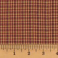 Red & Khaki 1 Homespun Cotton Fabric