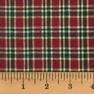 Red & Khaki 4 Homespun Cotton Fabric