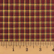 Red & Khaki 3 Homespun Cotton Fabric