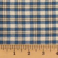 Vintage Blue 3 Homespun Cotton Fabric