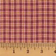 Red & Tan Homespun Cotton Fabric