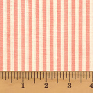 Petal Pink Candy Stripe Homespun Cotton Fabric
