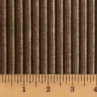 Chocolate Brown Stripe Homespun Cotton Fabric