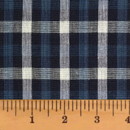 Twilight 5 Blue & Gray Plaid Homespun Cotton Fabric