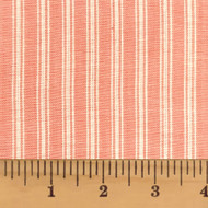 Petal Pink Ticking Stripe Homespun Cotton Fabric