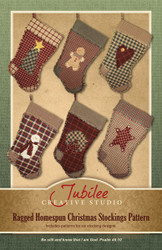 Ragged Christmas Stocking Pattern - Printed