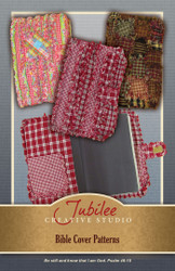 Ragged Homespun Bible Book Cover Pattern #1 - DIGITAL