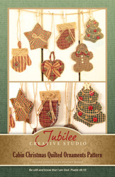 Cabin Christmas Quilted Ornaments Pattern - Printed