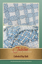 Cathedral Rag Quilt Throw Pattern - DIGITAL
