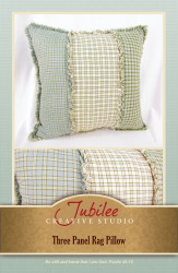 Three Panel Ragged Pillow Pattern - Forever Free! -Digital
