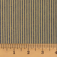 Heritage Navy Blue Stripe Homespun Cotton Fabric