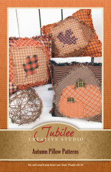 Autumn Pumpkin and Leaf Ragged Pillow Pattern - Forever Free! - Digital