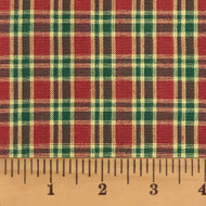 Cranberry Christmas 4 Plaid Homespun Cotton Fabric