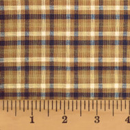 Autumn Brown Plaid Homespun Cotton Fabric
