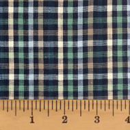 Levi Blue Plaid Homespun Cotton Fabric