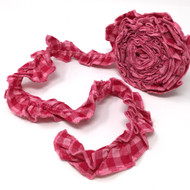 Strawberry Pink 5 Ruffled Trim/Garland  - 1 roll - 144 inches (12 feet)