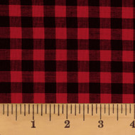 Red & Black Mini Buffalo Check Homespun Cotton Fabric