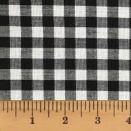 White & Black Mini Buffalo Check Homespun Cotton Fabric