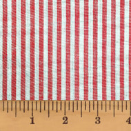 Liberty Red Thin Stripe Homespun Cotton Fabric