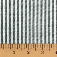 Mountain Lodge Gray Thin Stripe Homespun Cotton Fabric