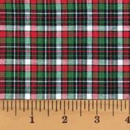 Holiday Hearth 3 Tartan Homespun Cotton Fabric