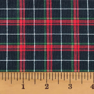 Holiday Hearth 6 Tartan Homespun Cotton Fabric