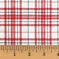 Peppermint Red & White Tartan Homespun Cotton Fabric