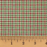 Farmhouse Red & Green Homespun Cotton Fabric