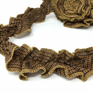 Walnut Brown Ruffled Trim/Garland  - 1 roll - 144 inches (12 feet)