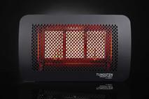 Bromic Tungsten Smart-Heat 3 Burner Radiant Gas Heater, Propane, Front View