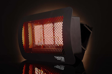 Bromic Tungsten 300 Gas Heater, Natural Gas, Quarter Angle