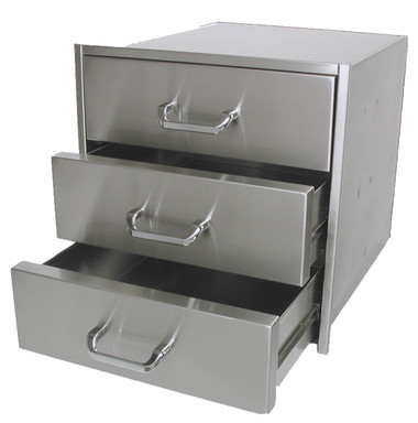 "3 Drawer Set, 21"" Finished Width, 23"" Depth"