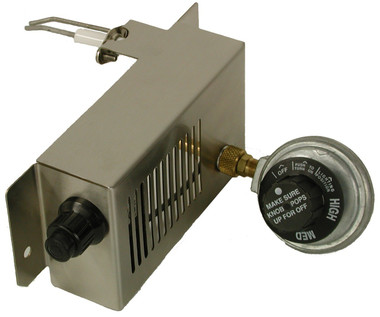 For Solaire Anywhere Portable Infrared Grills with metric threads (feet with silver/gray). Replaces ignition system and regulator with currently used components.