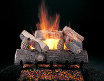 "Lone Star by Rasmussen Gas Logs (shown: 24"" size on FX Burner and 5/8"" Grate"