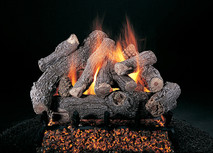 "Bonfire by Rasmussen Gas Logs (shown in 24-inch set size on FX burner and 5/8"" grate)"