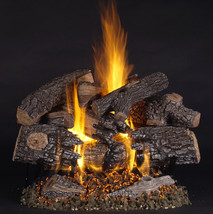 TimberFire by Rasmussen Gas Logs (shown in 24-inch set size on LC burner)