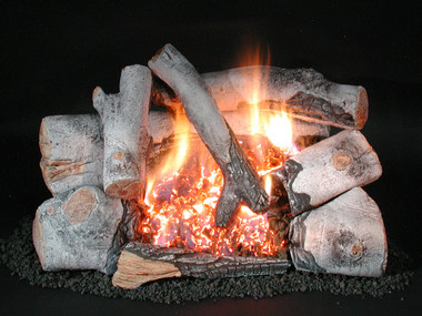 C8 Chillbuster Evening Embers Birch by Rasmussen Gas Logs
