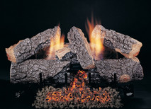 "30"" Evening Embers by Rasmussen Gas Logs, Bark side of logs showing"