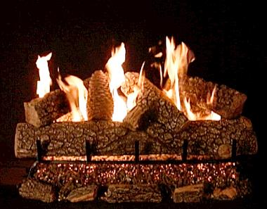 "30"" Crestline Oak by Rasmussen Gas Logs, complete set"