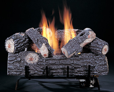 """C1 Chillbuster Bark side of front log showing, 24"""" size, by Rasmussen Gas Logs"""