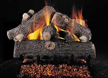 "Prestige Oak 24"" set size on FX burner by Rasmussen Gas Logs"