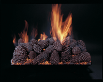 "Pine Cones 24"" set size on CS24-B-N burner by Rasmussen Gas Logs"