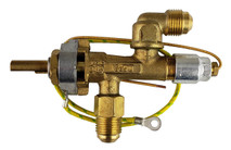 Gas valve for portable tungsten Bromic heaters