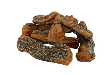 "FP21B Rasmussen Fire Pit Bark Logs arrangement with 21"" footprint"