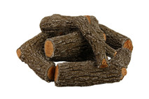 "FP21C Rasmussen Fire Pit Bark Logs arrangement with 21"" footprint"