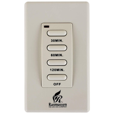 Wireless 30/60/120 Minute Wall Timer for Rasmussen Gas Log Sets, WT-2R