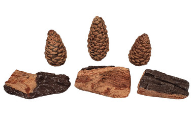 Rasmussen Pine Cone and Chip Gas Log Enhancement Pack, Item #CPPT