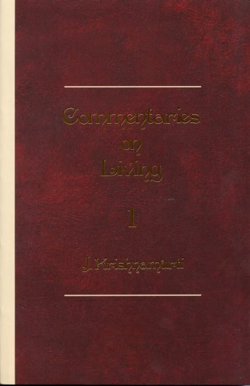 Commentaries on Living: Series I
