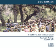In meditation, life is a total movement (MP3 Disc) - Four Public Meetings