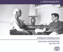 A feeling for something sacred - Conversation with David Bohm (MP3 DISC)